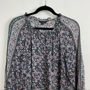 Lucky brand bohemian peasant floral blouse large